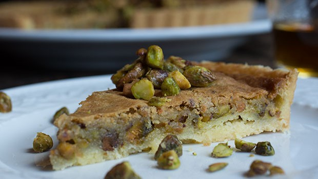 Pistachio Tart with Shortbread Crust