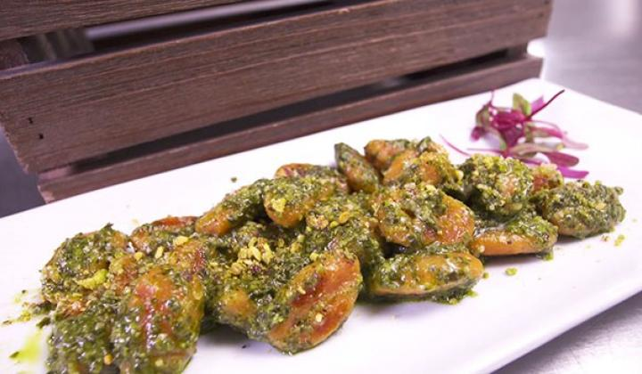 Sweet Potato Gnocchi with Pistachio Kale Pesto